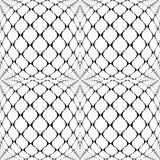 Design seamless warped grid geometric pattern Royalty Free Stock Images