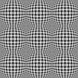 Design seamless warped square trellised pattern Royalty Free Stock Images