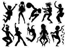 Design set with acrobats and dancers Stock Photos