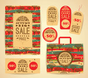 Design set  for autumn sale. Stock Photography