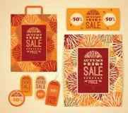 Design set  for autumn sale. Stock Photography