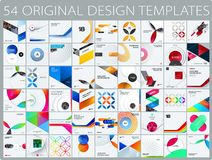 Design set of colourful abstract vector elements for modern background with circles, squares, triangles, smooth shapes royalty free illustration