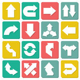 Design set of flat arrow Stock Photos