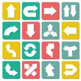 Design set of flat arrow.  Stock Photos