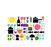 Design set about food and cooking Royalty Free Stock Images