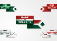 Design set of labels badges Made in Belarus Royalty Free Stock Image