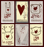 Design set of labels for Valentine's Day. Royalty Free Stock Image
