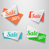 Design shape Origami vector banner. Sale vector illustration
