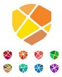 Design shield logo element. Royalty Free Stock Photos
