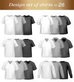 Design shirt set. Vector. Stock Photography