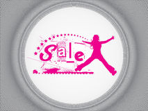 Design for shopping sale Royalty Free Stock Photo