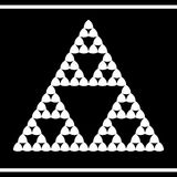 Design in sierpinski triangle style Royalty Free Stock Photos