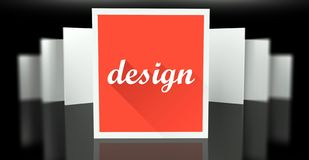 Design sign exhibition gallery stand walls Royalty Free Stock Photography