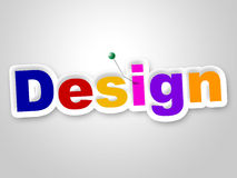 Design Sign Represents Layouts Models And Diagrams Royalty Free Stock Images