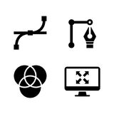 Design. Simple Related Vector Icons Stock Photography