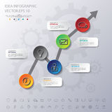 Design simple step number and line business icon timeline/graphi Stock Photos