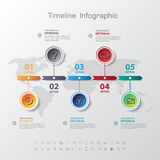 Design simple step number and line business icon timeline/graphi Stock Photography