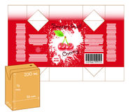 Design of small juice or milk shake box. Stock Images