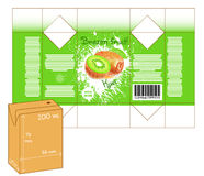 Design of small juice or milk shake box. Royalty Free Stock Images