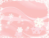 Design with snowflakes Royalty Free Stock Image