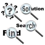 design som söker lösningen Fotografering för Bildbyråer