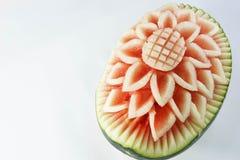 Design som snider blommavattenmelon Royaltyfri Fotografi