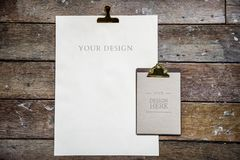 Design space on blank papers Royalty Free Stock Photos