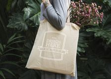 Free Design Space On Tote Bag Stock Photo - 105910240