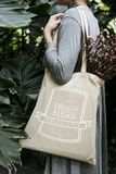Design space on tote bag stock image
