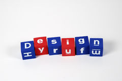 Design Spelled From Blocks royalty free stock photo