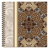 Design of spiral ornamental notebook cover Royalty Free Stock Photos