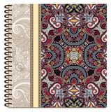 Design of spiral ornamental notebook cover Stock Photography