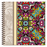 Design of spiral ornamental notebook cover Stock Photos