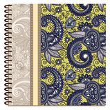 Design of spiral ornamental notebook cover Royalty Free Stock Photography