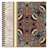 Design of spiral ornamental notebook cover Royalty Free Stock Photo