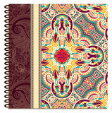 Design of spiral ornamental notebook cover Stock Images