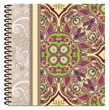 Design of spiral ornamental notebook cover Royalty Free Stock Image