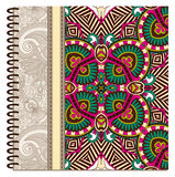 Design of spiral ornamental notebook cover Stock Image