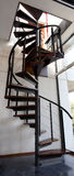 Design spiral staircase. In a house interior Royalty Free Stock Image
