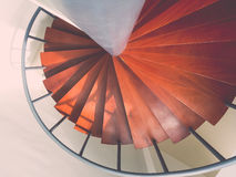 Design spiral staircase made of wood Stock Images