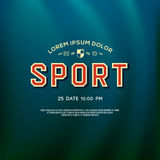 Design sport logo for college and university team Royalty Free Stock Images