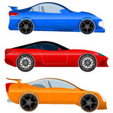 Design a Sports Car and Muscle Car - Stock Vector. Design a sports car and muscle car -  illustration. Three sportcar isolated on white background Royalty Free Stock Image