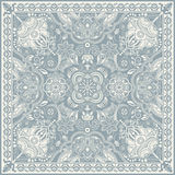 Design for square pocket, shawl, textile. Paisley floral pattern Stock Images