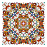Design for square pocket, shawl, textile. Vector floral pattern Stock Images