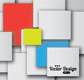 Design of squares Royalty Free Stock Photos