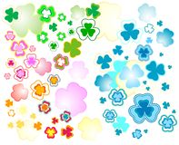 Design for St. Patrick's Day. Clover background for the St. Patrick's Day Royalty Free Stock Images