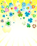 Design for St. Patrick's Day. Clover background for the St. Patrick's Day Royalty Free Stock Image