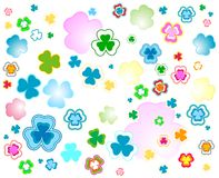 Design for St. Patrick's Day. Clover background for the St. Patrick's Day Royalty Free Stock Photo