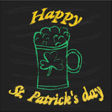Design for St. Patrick's Day. Cool typographic design for St. Patrick's Day Royalty Free Stock Images