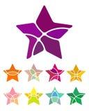 Design star logo element. Royalty Free Stock Photos